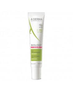Aderma biology calme crème tube blanc vert rouge