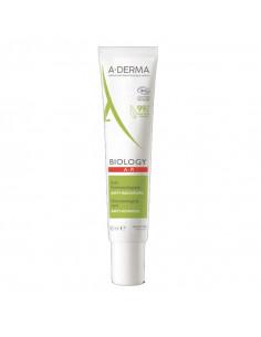 Aderma Biology AR crème visage anti rougeurs bio tube blanc vert et rouge