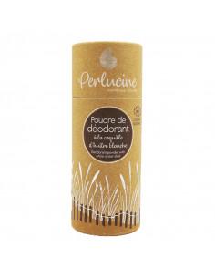 Perlucine Poudre de déodorant à la coquille d'huître blanche boite carton rechargeable