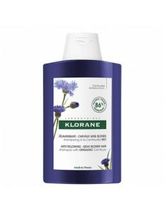 Klorane Déjaunissant Shampooing Centaurée Bio grand flacon bleu violet 400ml