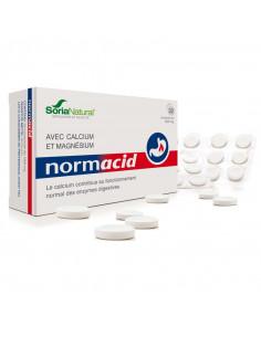 SoriaNatural Normacid. 32 comprimés boite blanche bleu et rouge