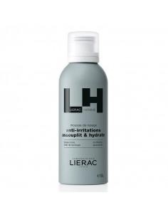 Lierac Homme Mousse de Rasage anti-irritations. 150ml flacon bleu gris