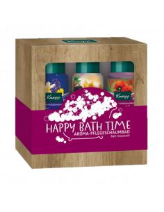 Kneipp Happy Bath Time Coffret Bain Moussant 3x100ml coffret noel 2021 effet bois