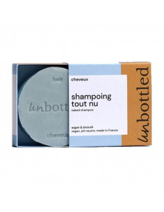 Unbottled Shampooing Solide Tout Nu. 75g cheveux normaux pain bleu
