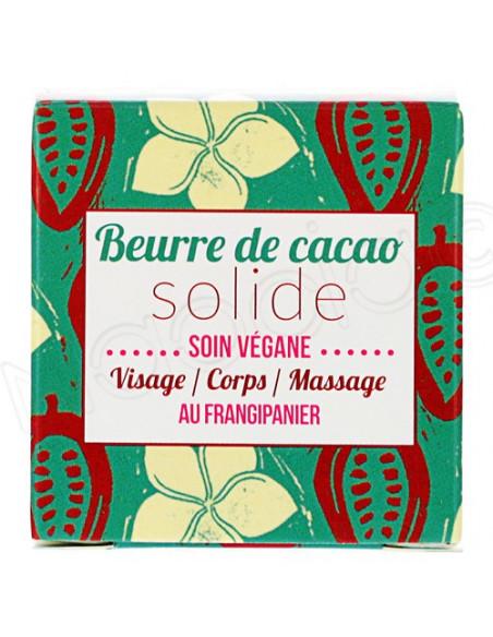 Lamazuna Beurre de Cacao Frangipanier Solide. 25g