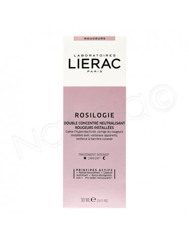Lierac Rosilogie Double Concentré Neutralisant Rougeurs Installées. 2x15ml