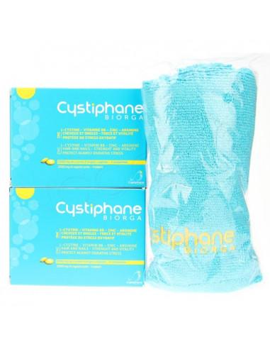 Cystiphane Bailleul Cheveux et Ongles. Lot 2x120 comprimés + 1 serviette OFFERTE