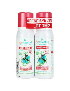 Puressentiel Anti-Pique Spray répulsif apaisant. Lot 2 sprays 75ml