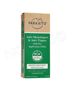Para'Kito Anti-Moustiques & Anti-Tiques Protection Forte. Roll-on 20ml