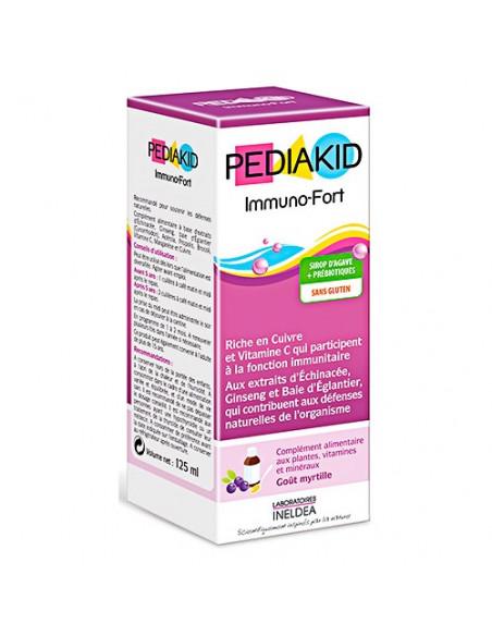 Pediakid Immuno-Fort soutient les défenses immunitaires. Sirop Myrtille -