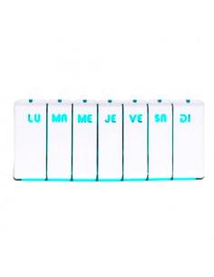 PILBOX TEMPO Pilulier hebdomadaire Turquoise Cooper - 1