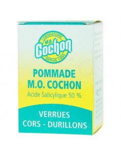 Pommade M.O Cochon Acide Salicylique 50 pour cent Verrues Cors Durillons Pot 10g