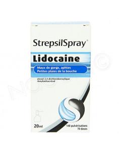 StrepsilSpray Lidocaine Maux de Gorge