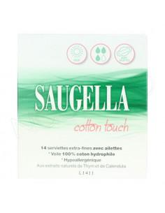 Saugella Cotton Touch Serviettes Extra-fines. x14 serviettes hygiéniques