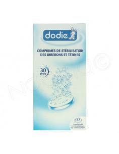 Dodie Comprimés de Stérilisation des Biberons & Tétines. x32 comprimés