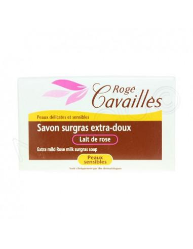 Rogé Cavaillès Savon surgras Lait de rose. 1 pain 150g