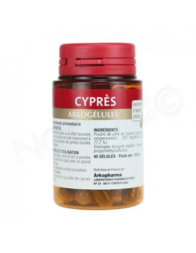 Arkogélules Cyprès - Circulation. 45 gélules