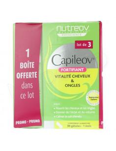 Capileov Fortifiant Vitalité Cheveux & Ongles. Lot 2 Boites + 1 OFFERTE