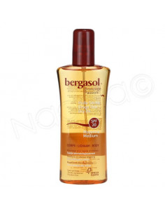 Bergasol Bronzage passion Huile sèche corps SPF20. Spray 125ml
