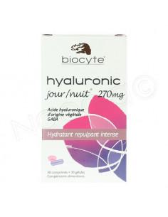 Biocyte Hyaluronic Jour/Nuit 270mg. Boite 30 comprimés + 30 gélules