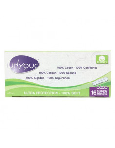 Unyque Ultra Protection 100% coton 16 Super Tampons