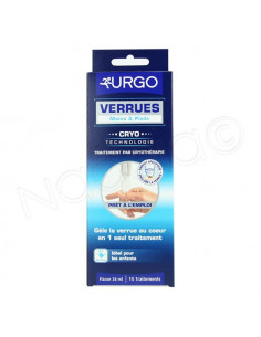 Urgo Verrues Mains & Pieds Traitement Cryothérapie. Flacon 20ml