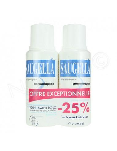 Saugella Dermoliquide Emulsion lavante douce. Lot de 2*250ml