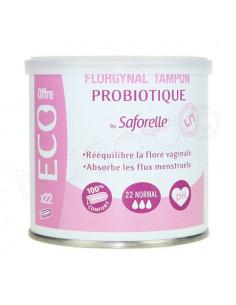 Saforelle Probiotique Florgynal Tampons x22 Flux normal