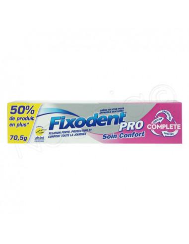 Fixodent Pro Soin Confort Complete Crème fixative Appareil dentaire. 70.5g