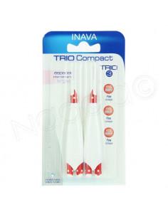 Inava Trio Compact Trio 3 Brossettes interdentaires Larges