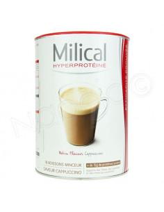Milical Hyperprotéiné Matin Plaisir Boisson Minceur Cappuccino. 18 portions de 30g