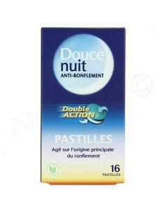 Douce Nuit Anti Ronflement Double action Pastilles x 16