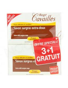Rogé Cavaillès Savon Surgras Extra-doux Lait de Rose. Pain 250g Offre Spéciale 3+1 gratuit - ACL 767