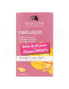 Offre spéciale Biocyte Cellulipill Cellulite & rétention d'eau 2 boîtes achetées + 1 offerte !