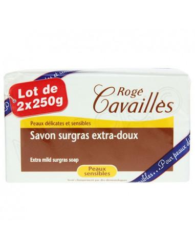 Rogé Cavaillès Savon Surgras extra-doux Peaux sensibles Lot de 2 x 250g