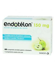 Endotélon 150 mg Pépins de Raisin. 60 comprimés
