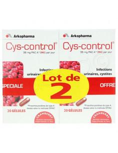 Cys-Control Confort Urinaire. Lot 2x20 gélules