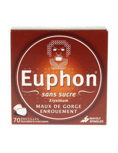 Euphon Sans Sucre Maux de gorge Enrouement 70 pastilles