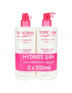 Offre Topicrem Ultra Hydratant Lait Corps. 2x500ml