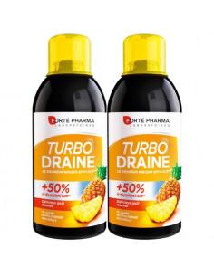 Forté Pharma Turbo Draine Goût Ananas. Lot 2x500ml