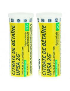 Citrate de Bétaïne UPSA 2g arôme menthe sans sucre. 20 comprimés