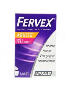 FERVEX ETAT GRIPPAL Adultes 8 sachets de granulés framboise