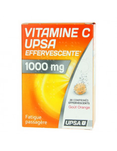 Vitamine C UPSA Effervescente 1000 mg. 20 comprimés effervescents goût Orange