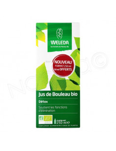 Offre spéciale Weleda Just de Bouleau Bio Détox. 200ml + 50ml offerts