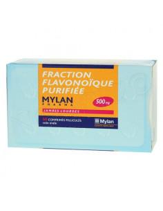 Fraction Flavonoïque purifiée Mylan 500mg 60 comprimés pelliculés