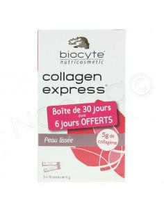 Biocyte Collagen express. Boite de 30 jours dont 6 jours offerts.