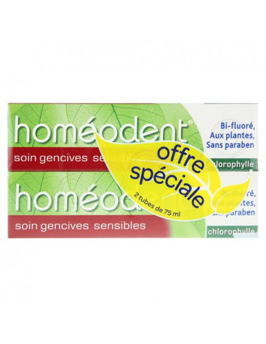 Homéodent Soin Gencives Sensibles Offre spéciale 2 tubes de 75ml