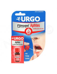 Urgo Filmogel Solution pour aphtes. Flacon de 6ml.