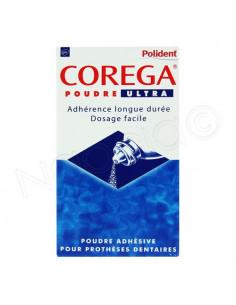 Corega Poudre Ultra Adhésive pour prothèses dentaires. 40g