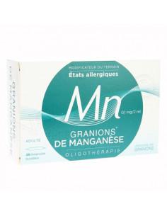 Granions de Manganèse états allergiques. 30 ampoules buvables - Pharmacie en ligne